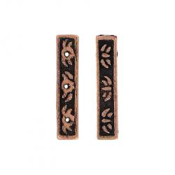 Spacer bar 3 row bead antique copper