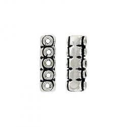 Spacer bar 5 row  antique silver lf/nf