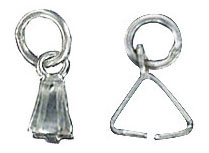 Sterling silver bail with loop 4x8mm .925