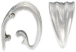 Sterling silver bail, 13x7mm