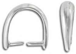 Sterling silver bail, 13mm height, .925