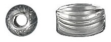 Sterling silver bead corrugated oval 9x6mm .925