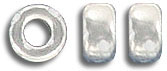 Sterling silver rondelle bead, 5x3mm