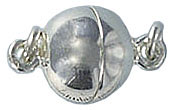 Sterling silver clasp magnetic 13x9mm .925