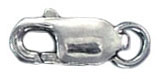 Sterling silver clasp lobster 12x5mm .925