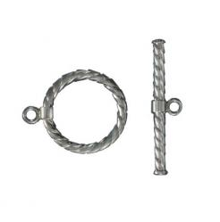 Sterling silver clasp toggle (circle 15mm) .925