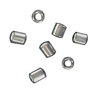 Sterling silver crimp connector 3x2mm .925