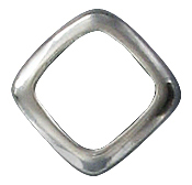 Sterling silver jumpring soldered fancy square 11mm .925