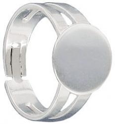 Sterling silver expandable ring with pad