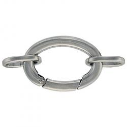 Oval clasp with rings stainless steel