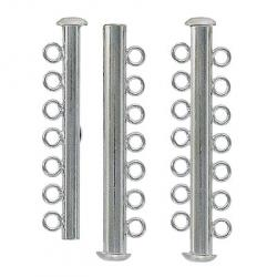 Slide lock tube clasp 7 row nickel