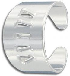 Finger ring expandable, 5-loop, silver plate