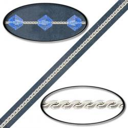 20mt-brass beading chain silver plate