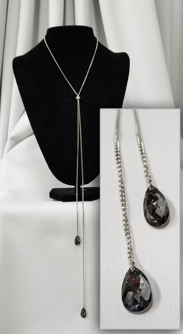 Chain crystals necklace