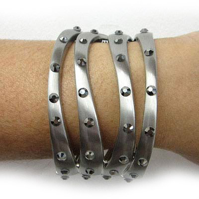 Bracelet with Self-adhesive crystals