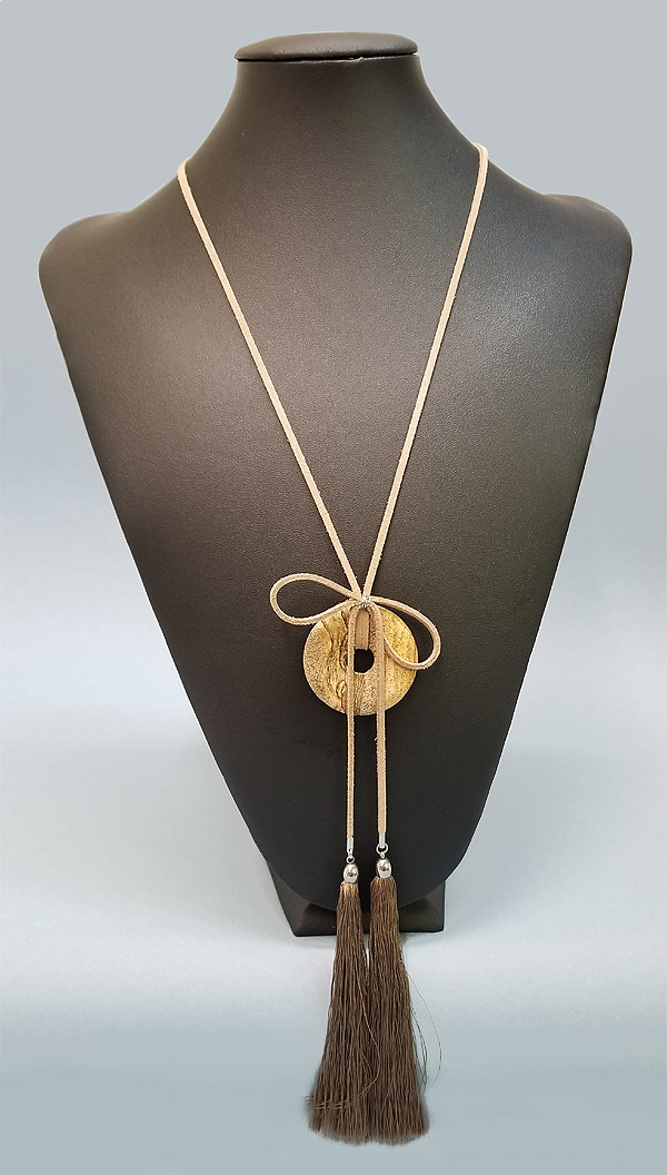 Donut and tassels Necklace