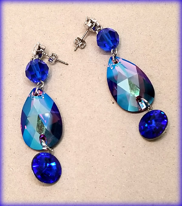 Boucles d'oreilles Shimmer Amethyst earrings