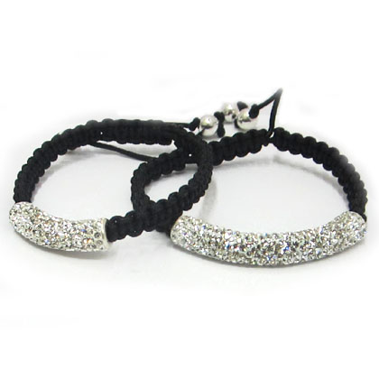 Shamballa Bracelet with Sterling Silver Tube bead