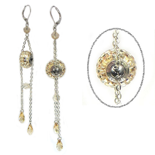 Swarovski Elements crystal earrings