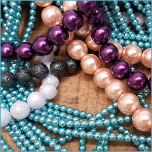 Glass Pearls Czech