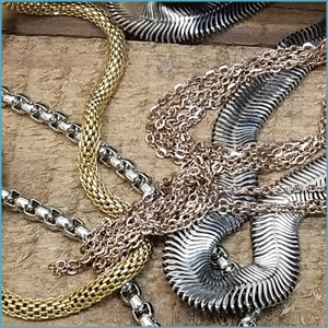 STAINLESS STEEL BRACELETS AND NECKCHAINS