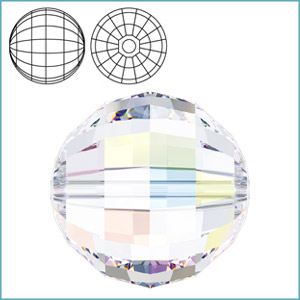 SWAROVSKI 5005 CHESSBOARD ROUND FACETED BEAD