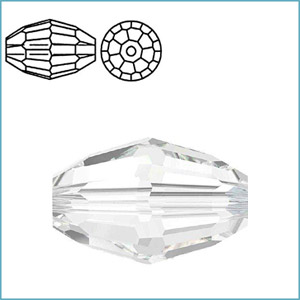 SWAROVSKI 5200 FACETED OVAL BEAD