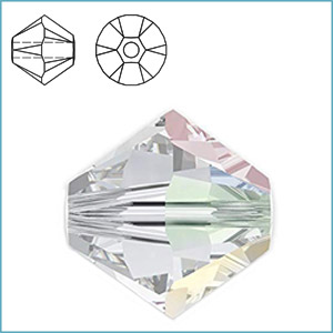 SWAROVSKI 5328 (5301) FACETED BICONE BEAD