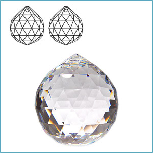 Swarovski 8558 Ball (224 Facets) Pendant