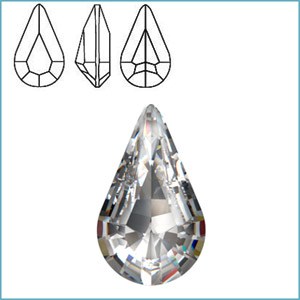 Swarovski 4300/2 Pear (TC) Fancy Stone
