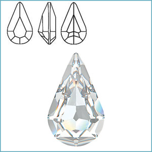 Swarovski 4300 Pear Fancy Stone