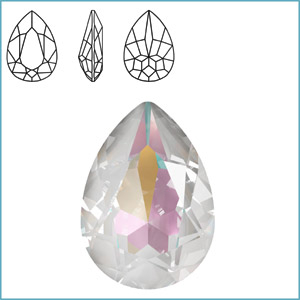 Swarovski 4320 Pear Fancy Stone