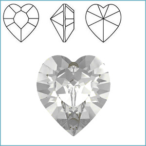 Swarovski 4800 Heart Fancy Stone