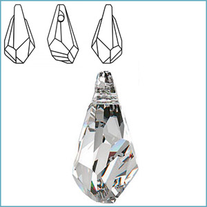 SWAROVSKI 6015 POLYGON DROP PENDANT