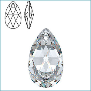 SWAROVSKI 6106 PEAR-SHAPED PENDANT