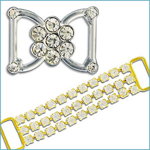 RHINESTONE COMPONENTS AND BELTS