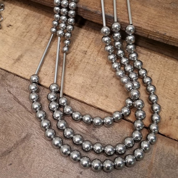 3-rows necklace
