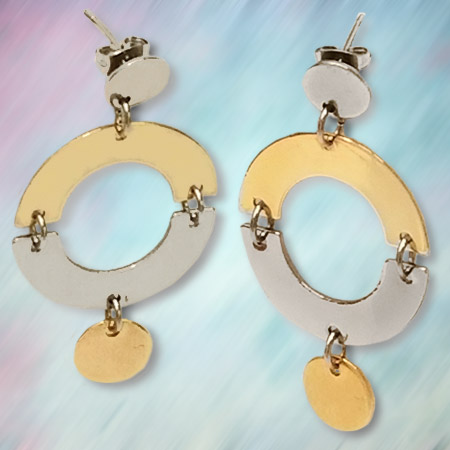 SEMI CIRCLE CONNECTOR EARRINGS