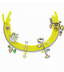 Crystal Neon Yellow Pearls combined with Crystal Luminous Green and other colors and effects.