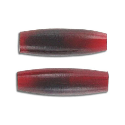 Horn beads, 1 inch, pipe, red