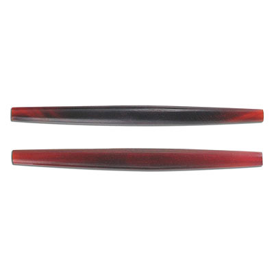 Horn beads, 4 inch, pipe, red