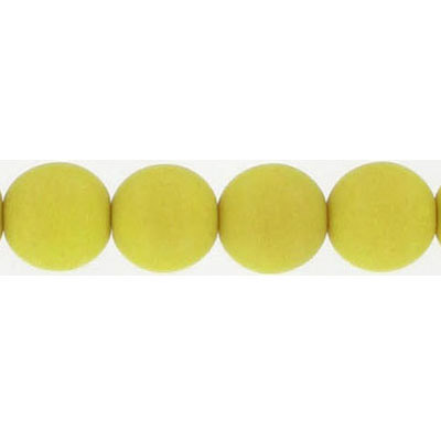 Glass neon beads, 10mm, round, lemon grass, 7 inch strands