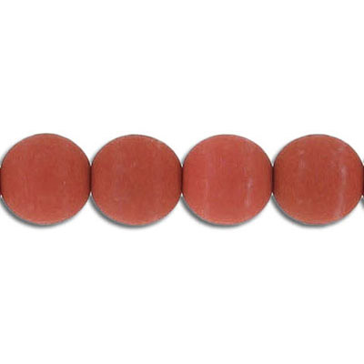 Glass neon beads, 10mm, round, brick, 7 inch strands