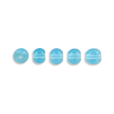 Pressed glass beads, 4mm, aqua, approx. hole size 0.75mm