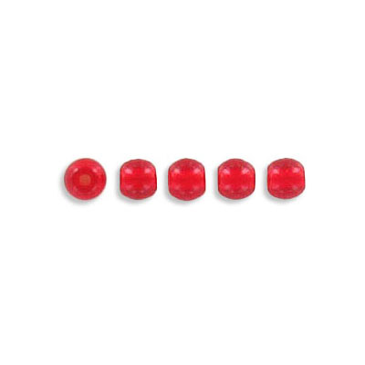 Pressed glass beads, 4mm, red, approx. hole size 0.75mm