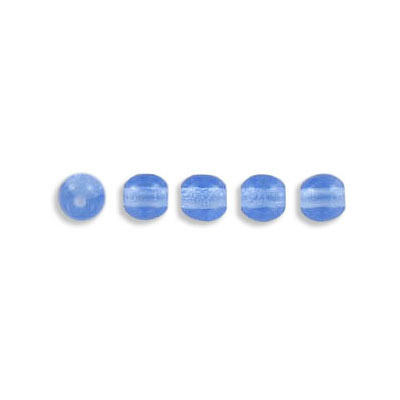 Pressed glass beads, 4mm, light blue, approx. hole size 0.75mm