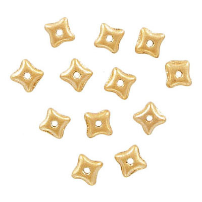 Preciosa glass bead, 5x3mm, orion, pearl gold, hole size approx. 0.75mm, 5x7 inch strands, approx. 60 beads per strand