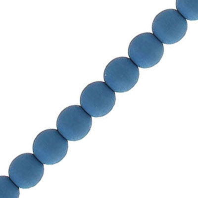 Glass beads, 6mm, round, neon, dark navy, 7 inch strands