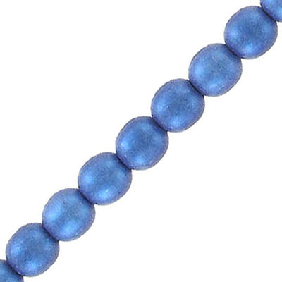 Glass beads, 6mm, round, blue star dust, 67 beads per strand, 16 inch strand