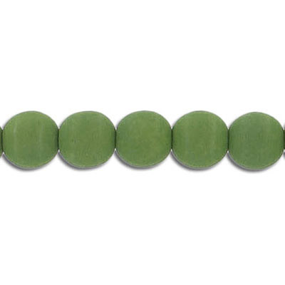 Glass neon beads, 8mm, round, lizard green, 7 inch strands